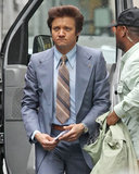 Jeremy Renner took on Boston's Financial District to film American Hustle on Saturday.
