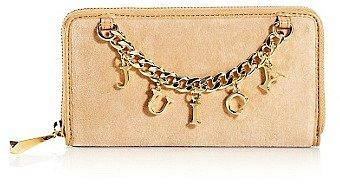 Iconic Charm Velour Zip Wallet
