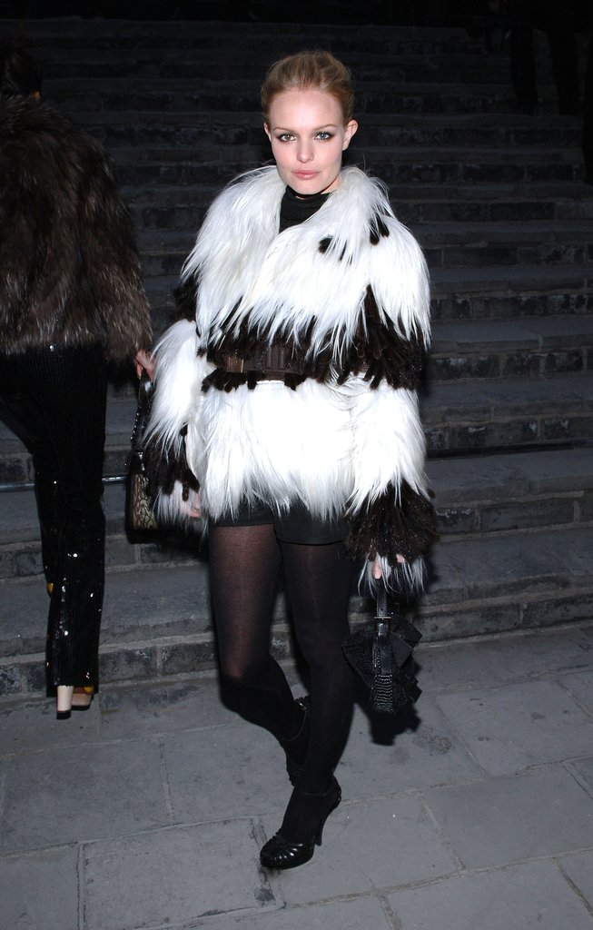 If there were awards given for the most statement-making statement coat, this black-and-white fur Fendi confection would definitely take the cake.