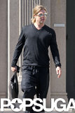 Brad Pitt stepped out in LA.