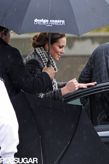 Pregnant Kate Middleton went shopping in London.