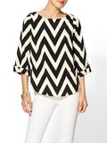 You can't go wrong with chevron — this Everly Clothing Chevron-Print Blouse ($49) is proof.
