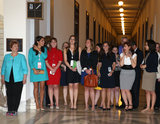 The women of DC were a little overwhelmed when the prince visited a photography exhibition in the Russell Senate Office Building.