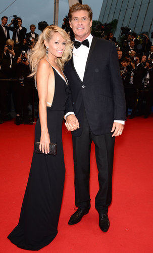 David Hasselhoff held hands with Hayley Roberts on the red carpet on Wednesday at the Cannes Opening Ceremony.