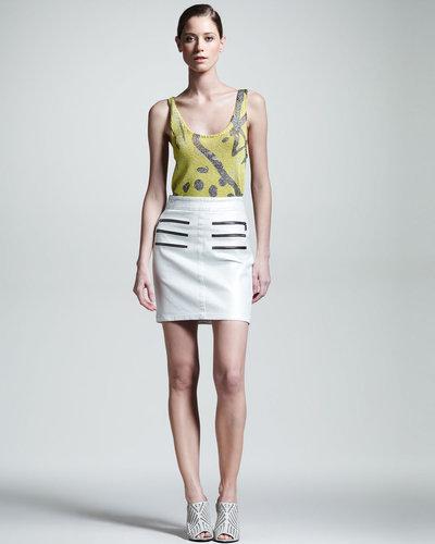 Kelly Wearstler Figurine Zip-Detail Skirt