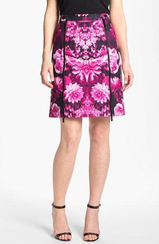 MICHAEL Michael Kors Snap Waist Garden Print Skirt