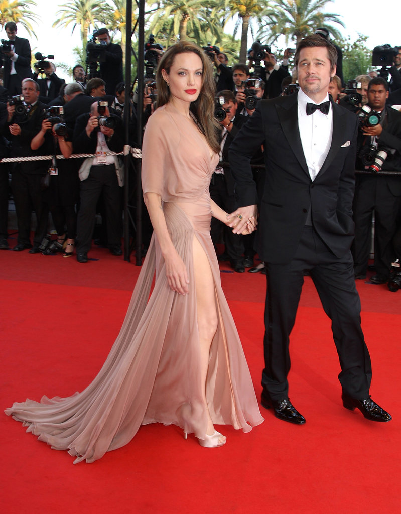 Angelina Jolie chose a stunning Atelier Versace dress for the 2009 Cannes Film Festival premiere of Inglourious Basterds. It drew a strong reaction primarily because the sheer fabric so closely matched the colour of her skin.