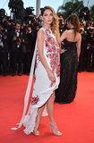 Erin Wasson wore an Antonio Berardi gown to the 2012 Cannes premiere of Amour.