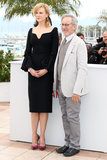 It was an elegant, bell-sleeved Alexander McQueen pick to stand alongside jury president Steven Spielberg.