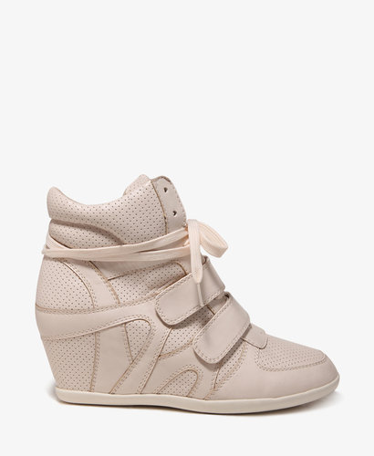 FOREVER 21 Perforated Wedge Sneakers