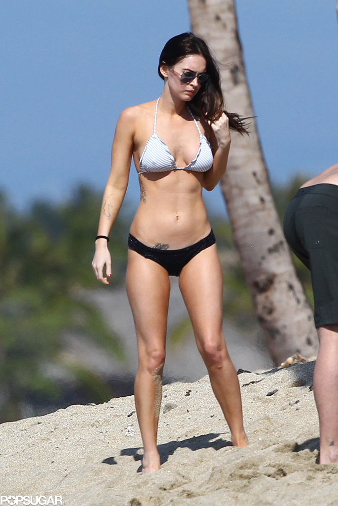 Megan Fox wore a skimpy bikini to hit the beach in Hawaii in February 2012.
