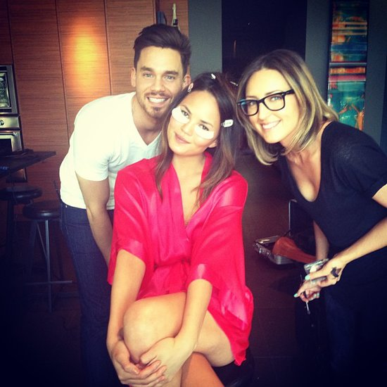 Chrissy Teigen posed with her glam squad while prepping for an appearance. Source: Instagram user chrissy_teigen