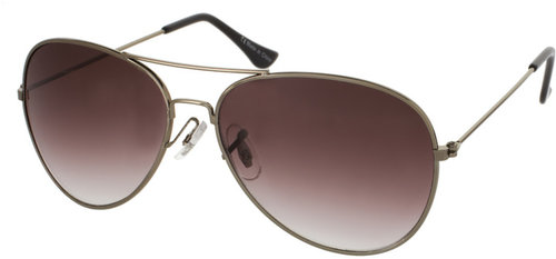 ASOS Gunmetal Aviator Sunglasses