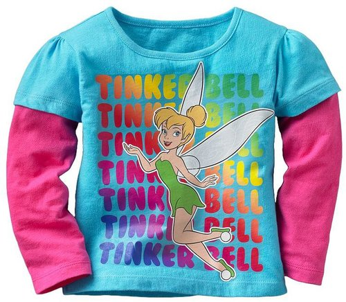 Disney fairies tinker bell mock-layer tee - toddler