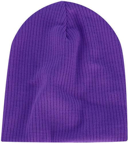Purple Skater Rib Beanie