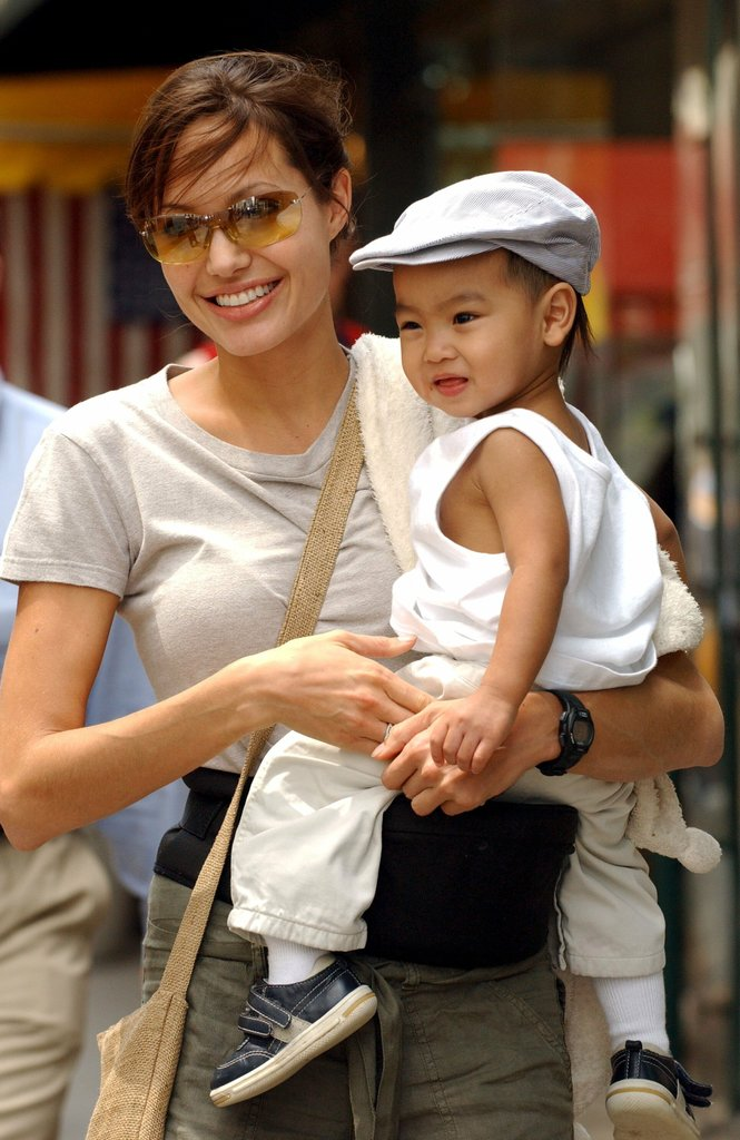 "Angelina Jolie adopted her first child, Maddox, from Cambodia in 2002 after filming Tomb Raider there in 2000. She said, ""For me, becoming a parent changed everything. My priorities straightened out. My life is all different."""