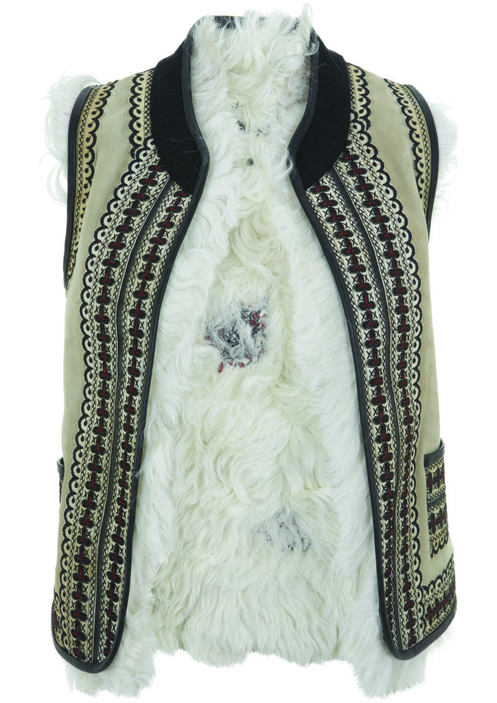 This Topshop Festival Collection for Summer 2013 furry and embroidered vest has Kate Bosworth's name written all over it.