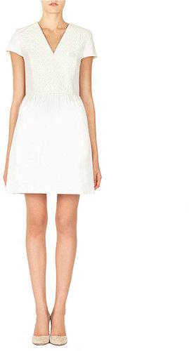 RAOUL Lace Paneled Pleated Lara Dress