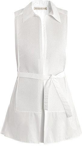 Balenciaga Poplin macro-pique shirt dress