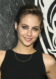 Willa Holland also got the updo memo for the night, sweeping her brown hair into a textured style. Her bold brows framed the rest of her makeup look flawlessly.