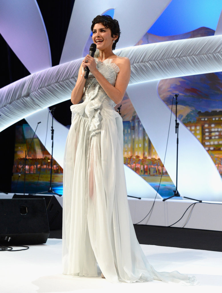Audrey Tautou addressed the crowd inside the Cannes Film Festival Opening Ceremony on Wednesday.