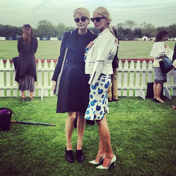 Jessica Stam and Karolína Kurková were sharply dressed for the Sentebale Royal Salute Polo Cup. Source: Instagram user jess_stam