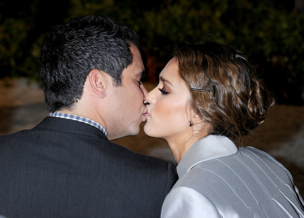 Jessica Alba and Cash Warren shared a sweet kiss in November 2011 while attending a Swarovski event in LA.
