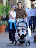 Back in January 2009, Jessica Alba and Cash Warren got close while strolling with baby Honor in LA.