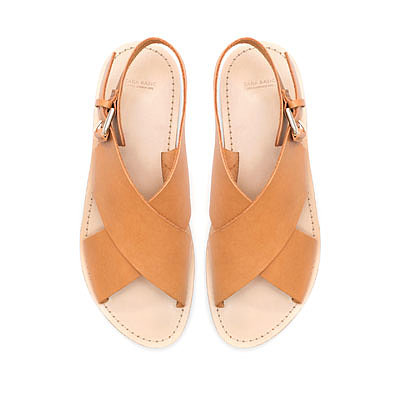 Image 1 of FLAT CROSSOVER SANDALS from Zara