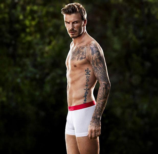 See David Beckham's Sexiest Shirtless Underwear Campaigns