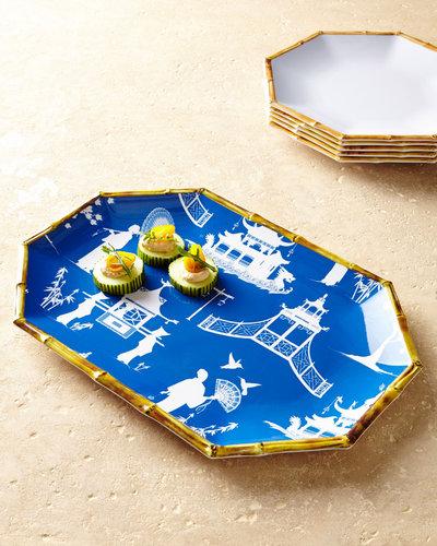 Kim Seybert Chinoiserie Melamine Serving Platter