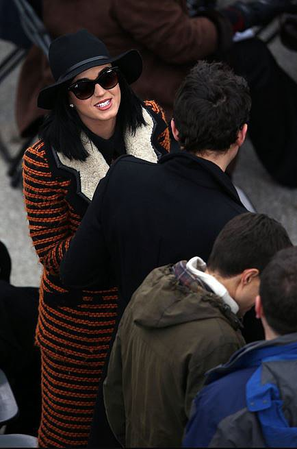 Make a statement with your outerwear, like Katy Perry.