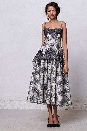 Trompe L'Oeil Peplum Dress