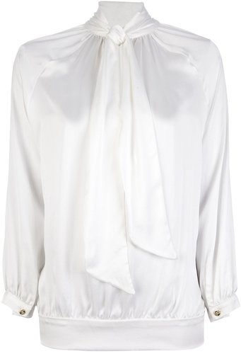 Pierre Balmain pussy bow blouse
