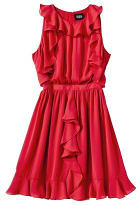 Prabal Gurung For Target Ruffle Dress -Apple Red