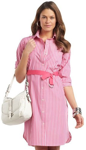Chaps non-iron striped shirtdress