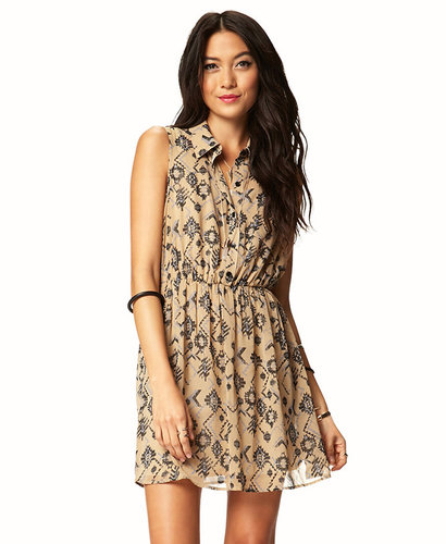 FOREVER 21 Southwestern Shirt Dress