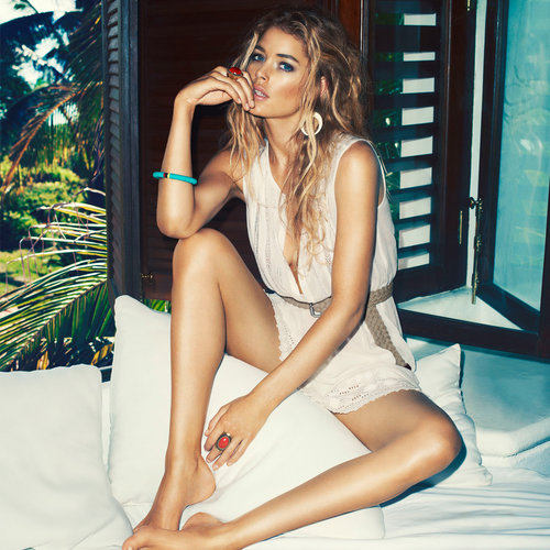 Doutzen Kroes Steams It Up for H&M's High Summer 13 Campaign