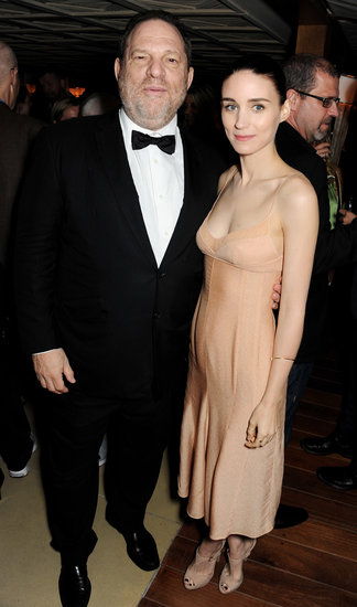 Rooney Mara mingled with Harvey Weinstein at the Calvin Klein party on Thursday.