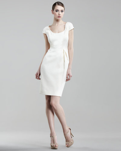 J. Mendel Cap-Sleeve Dress