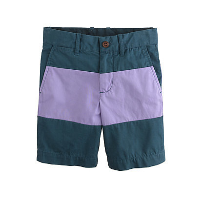 Your little boy doesn't have to be over-the-top trendy to sport of-the-moment Colorblocked Shorts ($50).