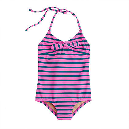 The retro styling of the Girls String Halter Striped Tank ($50) is so sweet, and it comes in four crisp color combos.