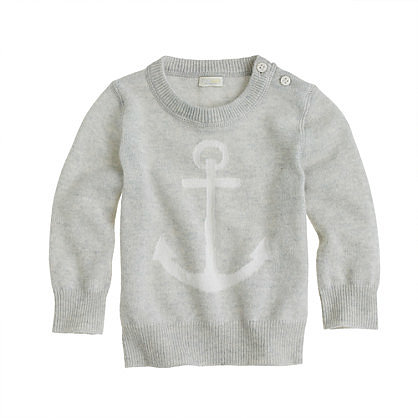 Infuse your baby boy's or girl's wardrobe with a little luxury in the form of this Collection Cashmere Anchor Sweater ($145).