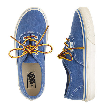 Vans ($40-$45) are back — with an updated edge and two washed color choices.