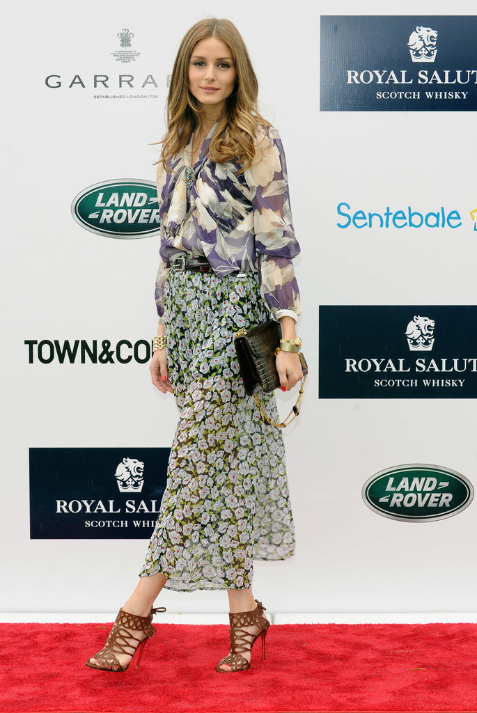 Olivia Palermo proved yet again that she never has an off day, this time in mixed floral prints at the Sentebale Royal Salute Polo Cup.