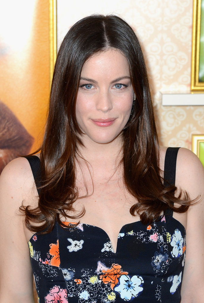 It was a simple, straight style and natural makeup for Liv Tyler, who attended a press conference for Magnum.