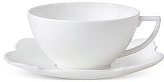 Jasper Conran Wedgwood Dinnerware, Baroque Teacup and Saucer Set