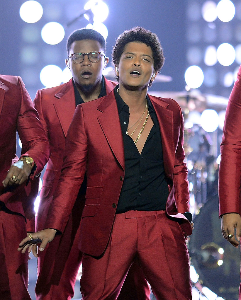 Bruno Mars performed during the Billboard Music