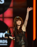 Carly Rae Jepsen waved to the crowd.