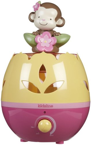 Kids Line Ultrasonic Cool Mist Pink Monkey Humidifier